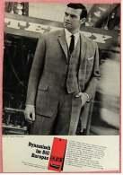 Reklame Werbeanzeige  -  Eural Polyester Anzug  -  Dynamisch Im Stil Europas  -  Von 1965 - Herr