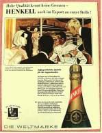 Reklame Werbeanzeige Von 1965 -  Henkell Sekt  -  Außergewöhnliche Qualität Für Die Anspruchsvollen  -  Von 1965 - Alkohol