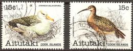 Aitutaki Cook Islands 1981 Birds SG 333-334 (2v) * Very Fine Used * - Aitutaki