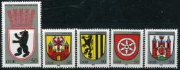 BOX02-23) DDR - 5x Michel 2817 / 2821 - ** Postfrisch - Stadtwappen I - Wert: 25,00 Mi€ - [6] Democratic Republic