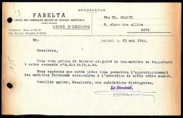 Obourg - Union Des Fabriques Belges De Textiles Artificiels - FABELTA S.A. - 1944 - 1900 – 1949