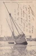 A2A Z31 CPA 29 CONCARNEAU CHALOUPE DE PECHEURS DE THON ECHOUEE GROS PLAN BATEAU ANIMEE TOP VISUEL PRECURSEUR 1902 VOIR - Concarneau