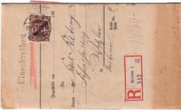 Infla Einschreiben Brief Mit  21  Dienstmarken , Wetzlar  17-08-1923 , Einkommensteuerbrief - Deutschland