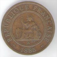 INDOCHINE FRANCAISE POIDS 10 GR 1 CENTESIMO 1885 REPUBLIQUE FRANCAISE - Colonie