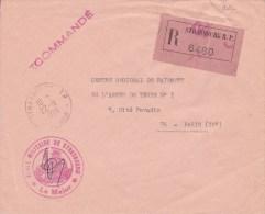 1966  -  ENVELOPPE RECOMMANDEE  FRANCHISE POSTALE DE L´ECOLE MILITAIRE De STRASBOURG ( BAS-RHIN ) - Marcophilie (Lettres)
