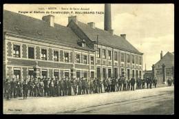 Cpa Du 59 Anzin  Route De Saint Amand Forges Et Ateliers De Construction P. Malissard Taza    6ao18 - Anzin