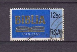 H] Timbre Oblitéré Cancelled Stamp RSA South-Africa Afrique Du Sud N° Yv. 327 Biblia Religion Christianisme Christianism - África Del Sur (1961-...)