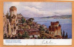Bosporus And Rumili Hissar Turkey 1908 French PO Mailed To USA - Turchia