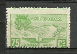 ANDORRA- SELLOS NO EMITIDOS. VARIEDAD  PERFORACION HORIZONTAL MUY DESPLAZADA  C. M. ABAD Nº  N.28   (C-V) - Precursores