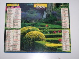 2001 CALENDRIER (double) ALMANACH DU FACTEUR, LA POSTE, LAVIGNE, ARDENNES 08 - Calendriers