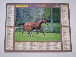 2006 CALENDRIER (double) ALMANACH DU FACTEUR, LABRADORS, CHEVAUX, OBERTHUR, ARDENNES 08 - Calendriers