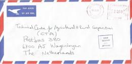Zimbabwe 2001 Mt Pleasant Hasler Mailmaster HAS 752 Meter Franking Cover - Zimbabwe (1980-...)