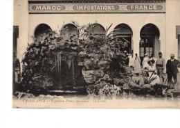 CARTE-PHOTO--- MAROC ---IMPORTATIONS----FRANCE--expositionfranco-marocaine-la Grotte---voir  2  Scans - Casablanca