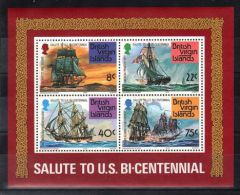 British Virgin Islands - 1976 Ships Block MNH__(TH-4036) - British Virgin Islands