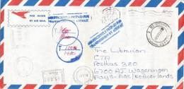 Zimbabwe 2001 Bulawayo Pitney Bowes 6300 PB C405 Meter Franking Underfranked Cover For Transmission By Air Mail - Zimbabwe (1980-...)