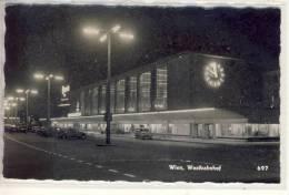 WIEN - Westbahnhof Bei Nacht    1957,  Bahnhof - Vienna