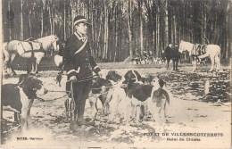 FORET DE VILLERS-COTTERETS RELAI DE CHIENS CHASSE A COURRE VENERIE HUNT - Jagd