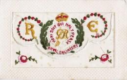 BELLE CPA BRODEE A VOLET  : HONI SOIT QUI MAL Y PENSE ROYAL ENGINEERS ORDRE DE LA JARRETIERE ENGLAND KINGDOM - Ricamate