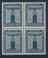 Deutsches Reich Dienst Michel No. 157 ** postfrisch MNH Viererblock / senkrecht gefaltet