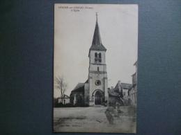 86 LEIGNE-sur-USSEAU  -  L'Eglise  1927 - Autres Communes