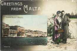 Pays Divers -malte -  Ref 720 -custom House - Greetings From Malta -souvenir De Malte  - - Malte