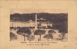Massa Piazza Umberto I. ( Gi Degli Aranci) In Alta La Chiesa Delle Grazie , On The Back Stamp Posta Estera - Massa