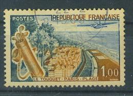 VEND BEAU TIMBRE DE FRANCE N° 1355f : PLAGE BLEUE !!!! - Variétés: 1960-69 Oblitérés