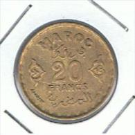 MARRUECOS - MOROCCO -  20 Francs   1371  #50 - Marruecos