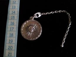 """Medaille Porte Clefs, """"6eme Congres M.M.S International, Fascination 1985"""" Argent - Non Classés"""