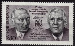 ALLEMAGNE   N°  1183 * *    Adenauer - De Gaulle - De Gaulle (Général)