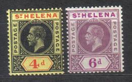 SS2542 - ST. HELENA , Giorgio V Yvert Serie  N. 51/52  *  Mint - Isola Di Sant'Elena