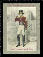 Old Original German Poster Stamp (cinderella, Reklamemarke) Old German Post Alt-Deutsche Post Postman Briefträger - Berufe
