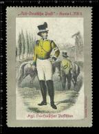 Old Original German Poster Stamp (cinderella, Reklamemarke) Old German Post,  Alt-Deutsche Post, Postman, Briefträger - Berufe