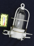 BEL ANCIEN  FANAL LAMPE  DE MATURE  MARINE NATIONALE En BRONZE - Décoration Maritime