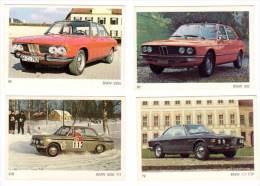4 Cartes Americana Munich, Automobiles : BMW 3.0 CSi, 520, 2500, 2002 Tii - Autres Collections