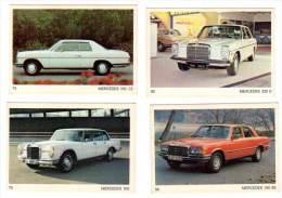 4 Cartes Americana Munich, Automobiles :  Mercedes 220 D, 250 CE, 350 SE, 600 - Autres Collections