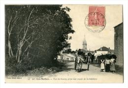Les Mathes Vue Du Bourg Prise Sur Route De La Sablière  Attelage Charette   BRAUN - Les Mathes