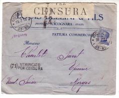 Lettre Italie Censure, Louis Bellini Cigognara - Morges CH (15716) - Machine Stamps (ATM)