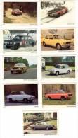 9 Cartes Americana Munich, Automobiles :  Volvo, Daf, Datsun, Mazda, Hillman, Humber, ... - Autres Collections