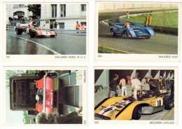 4 Cartes Americana Munich, Automobiles De Course :  Mac Laren Can Am, Mc Laren Ford, ... - Autres Collections