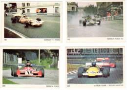 4 Cartes Americana Munich, Automobiles De Course, Formule 1 : March Ford - Autres Collections