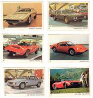 6 Cartes Americana Munich, Automobiles Italiennes : Fiat Dino, De Tomaso, Lamborghini, Maserati, Ferrari Dino, Stratos - Autres Collections