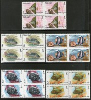 Sharjah - UAE 1965 Aquarium Fishes Marine Life Animal Sea Shell BLK/4 Set MNH # 12659B - Marine Life