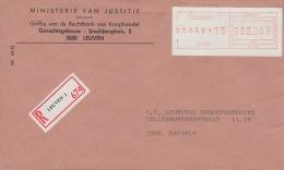 Speciale Rode ATM Frankering LEUVEN 1 : 82 Fr AANGETEKEND / RECOMMANDE AFFRANCHISSEMENT ROUGE ATM - 1980-99