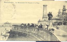 BLANKENBERGHE - Le Monument DE Bruyne Et La Plage (Feldpost) - Blankenberge