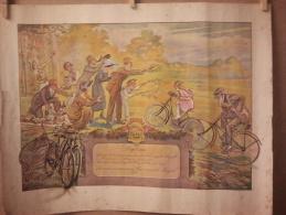DIPLOME Offert Par Auto Et Cycles PEUGEOT Pour Un Velo Achete En 1898 Souvenir Du Concours Du Plus Vieux Velo 1921 - Cyclisme