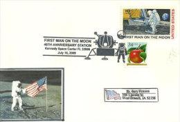 USA.40 Ans Du Premier Homme Sur La Lune. Kennedy Space Center. Floride 16 Juillet 2009 - Event Covers