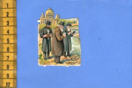 ANCIENNE CHROMO +/- 1910  DECOUPAGE DECOUPIS JUDAICA JUIF JUIVE JEWISH CROMO CUTTING - Gesneden Chromo's