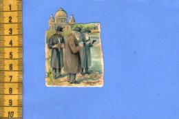 ANCIENNE CHROMO +/- 1910  DECOUPAGE DECOUPIS JUDAICA JUIF JUIVE JEWISH CROMO CUTTING - Découpis