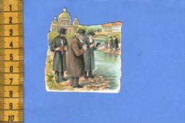 ANCIENNE CHROMO +/- 1910  DECOUPAGE DECOUPIS JUDAICA JUIF JUIVE JEWISH CROMO CUTTING - Victorian Die-cuts